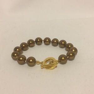 Carolee Chocolate Pearl Bracelet